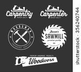 carpenter design elements in... | Shutterstock .eps vector #356240744