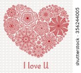 card design for valentines day... | Shutterstock .eps vector #356244005