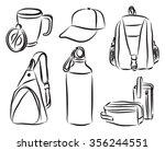 merchandising branding products ... | Shutterstock .eps vector #356244551