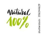 100  natural lettering. eco...   Shutterstock .eps vector #356244629
