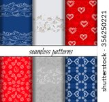vector set of seamless patterns ...   Shutterstock .eps vector #356250221
