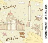 saint petersburg seamless... | Shutterstock .eps vector #356258105