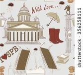 saint petersburg seamless... | Shutterstock .eps vector #356258111