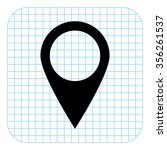 map pointer   black vector  icon