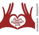 valentine day lettering... | Shutterstock .eps vector #356263379