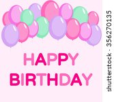 happy birthday card with... | Shutterstock .eps vector #356270135