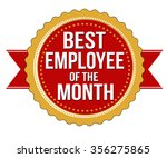 employee of the month label or... | Shutterstock .eps vector #356275865