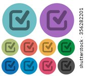 color checkmark flat icon set...
