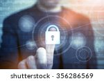 network safety concept with... | Shutterstock . vector #356286569