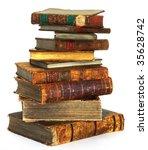 Big Stack Of Old  Antique Book...