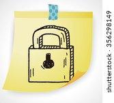 lock doodle drawing | Shutterstock .eps vector #356298149
