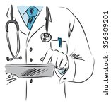 doctor medical illustration 2 | Shutterstock .eps vector #356309201