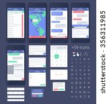 vector phone gui template for...
