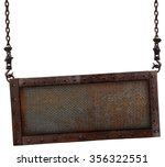 old rusted iron sign hanging on ... | Shutterstock . vector #356322551