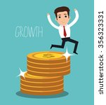 money and business investment... | Shutterstock .eps vector #356323331