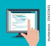 website design and hosting ... | Shutterstock .eps vector #356323631