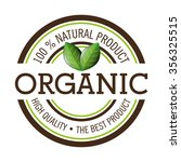natural and organic product... | Shutterstock .eps vector #356325515