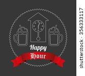 happy hour design  vector...   Shutterstock .eps vector #356333117