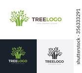 tree logo family logo eco logo... | Shutterstock .eps vector #356333291