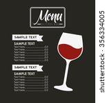 menu wine design  vector... | Shutterstock .eps vector #356334005