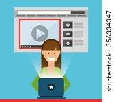 video marketing design  vector... | Shutterstock .eps vector #356334347