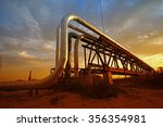 oil pipeline  the oil industry... | Shutterstock . vector #356354981