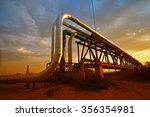 oil pipeline  the oil industry...   Shutterstock . vector #356354981