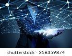businesswoman hand... | Shutterstock . vector #356359874