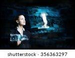 attractive smiling...   Shutterstock . vector #356363297
