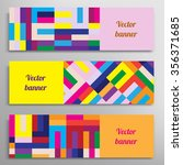 set of vector banners with... | Shutterstock .eps vector #356371685
