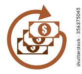 brown dollar cash with arrow ...