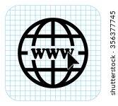 internet   black  vector icon | Shutterstock .eps vector #356377745
