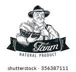 fresh fruits  food vector logo... | Shutterstock .eps vector #356387111