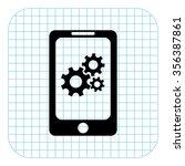 mobile phone settings   black ...   Shutterstock .eps vector #356387861