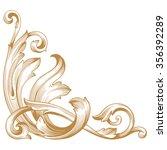 premium gold vintage baroque... | Shutterstock .eps vector #356392289