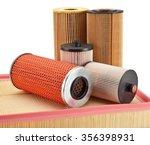 car fuel oil air filters  auto... | Shutterstock . vector #356398931