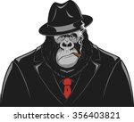 monkey in a suit gangster | Shutterstock .eps vector #356403821