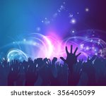 crowd background of peoples... | Shutterstock .eps vector #356405099
