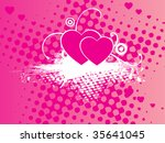 abstract pink grungy texture... | Shutterstock .eps vector #35641045