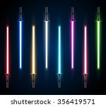 collection of light futuristic... | Shutterstock .eps vector #356419571
