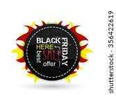 black friday vector icon with... | Shutterstock .eps vector #356422619