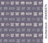 seamless pattern with american... | Shutterstock .eps vector #356430374