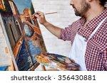 modern artist painting... | Shutterstock . vector #356430881