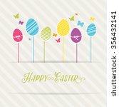lovely easter design | Shutterstock .eps vector #356432141