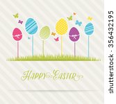 lovely easter design | Shutterstock .eps vector #356432195