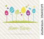 lovely easter design | Shutterstock .eps vector #356432195