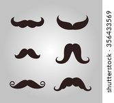 vector set of hipster mustache | Shutterstock .eps vector #356433569