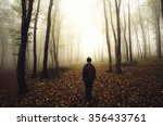 Autumn Forest With Man...