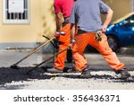 construction workers during... | Shutterstock . vector #356436371
