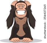 funny little monkey | Shutterstock .eps vector #356437265